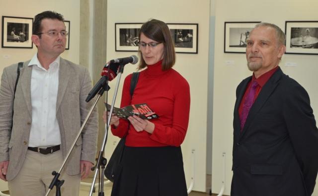 M. Sorin Albutiu, Maja Popovic & Virgil  Mihaiu vernisaj Podgorica2014